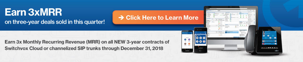 Earn 3X MRR through December 31, 2018