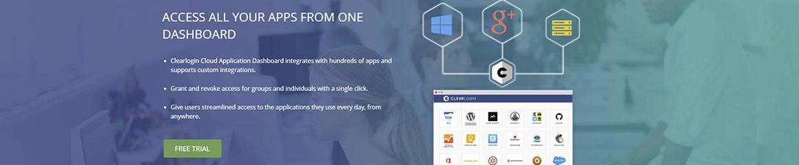 Clearlogin Cloud Application Dashboard